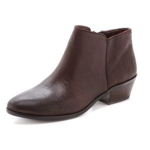 Sam Edelman Petty Brown Leather Ankle Boots 8.5